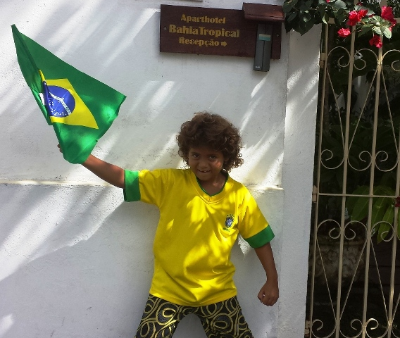 Brasilien Fan JohnKevin in Canavieiras Bahia