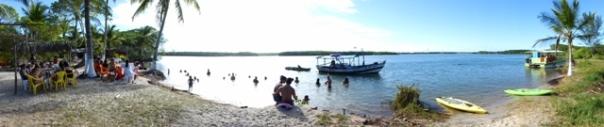 Baden im Fluss,Canavieiras,Bahia