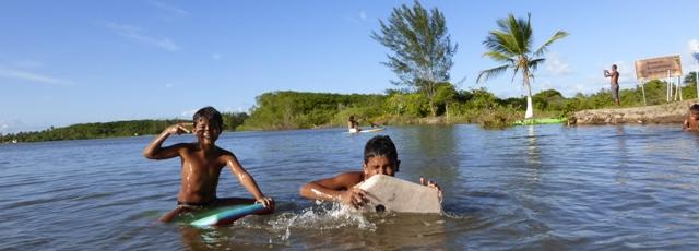 Surfen im Fluss